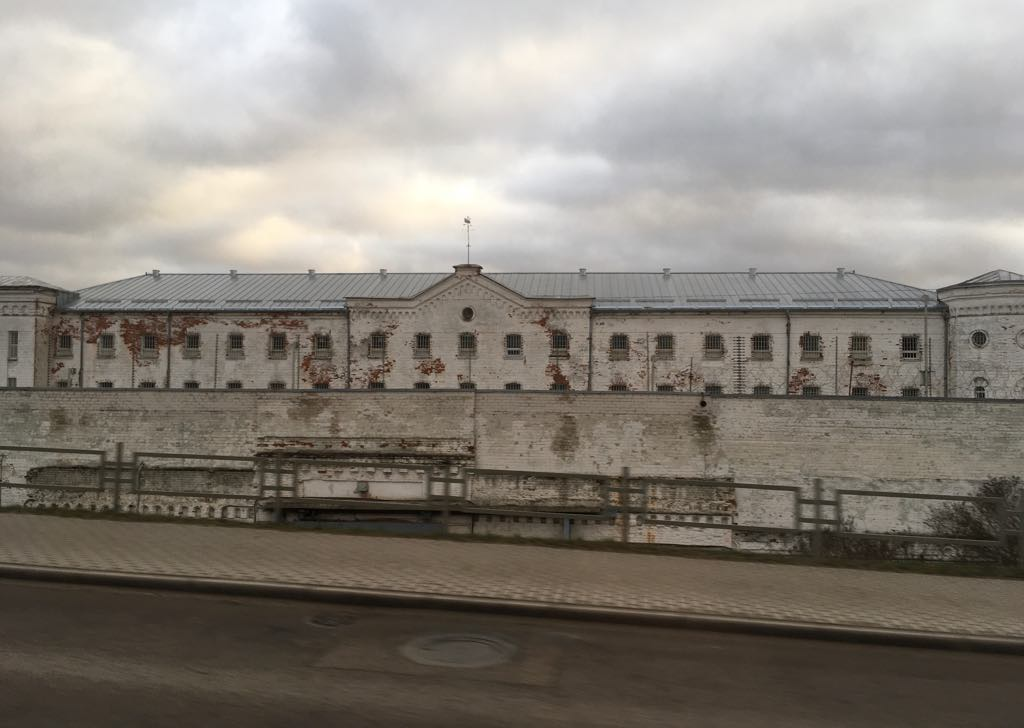 View of the Daugavpils prison.