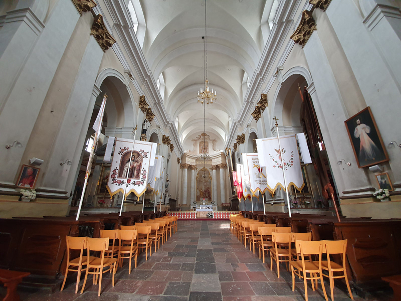 Interior view of the Roman Catholic Church of St. Ludwig.